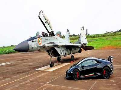 Mig 29k Squares Off Against Italian Supercar In Drag Race At Goa