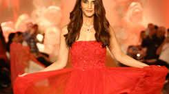 Vaani Kapoor walked the ramp for a fashion designer in Gurgaon