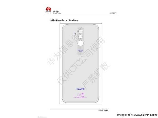 Huawei Mate 20 Lite schematics allegedly leaked online