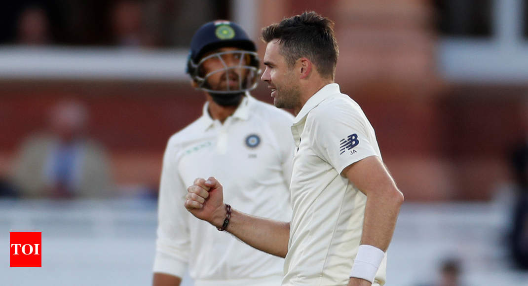 2nd Test: James Anderson's five-for folds up India for 107 on Day 2 - Times of India