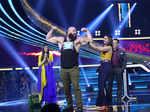 Diana Penty and Sonakshi Sinha with WWE star Braun Strowman and Salman Khan