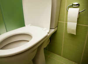 How to disinfect a public toilet seat before using it
