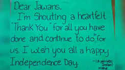 School kids write thank you letter to Jawans on Independence Day