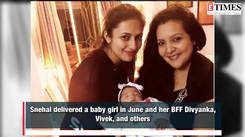 Divyanka Tripathi and Vivek Dahiya meeting BFF Snehal Sahay's newborn baby is adorable