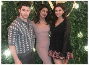 Parineeti poses with her bro-in-law and sis