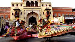 Jaipur celebrates Teej with all pomp and show