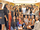 Beauty pageant contestants enjoy theatre activity
