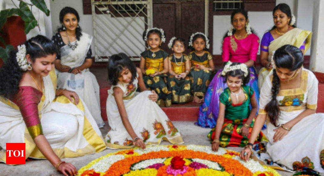 president pm modi among others wish people on onam with prayers for kerala india news times of india