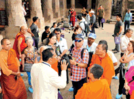 International community enjoy the Ajanta caves tour