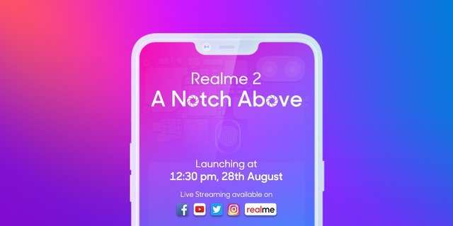 Realme 2 with 4,230mAh battery to launch today: How to watch the event live