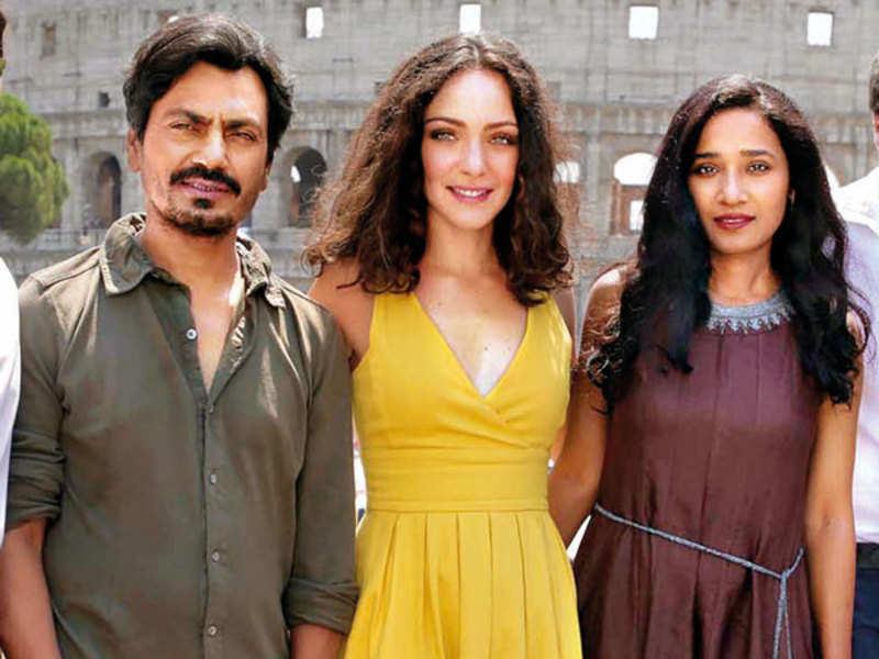 <p>Nawazuddin Siddiqui, Valentina Corti and Tannishtha Chatterjee<br></p>