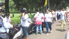 Chandigarh college girls rally for the helmet