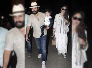 Pic: Taimur is off to Maldives with Bebo-Saif