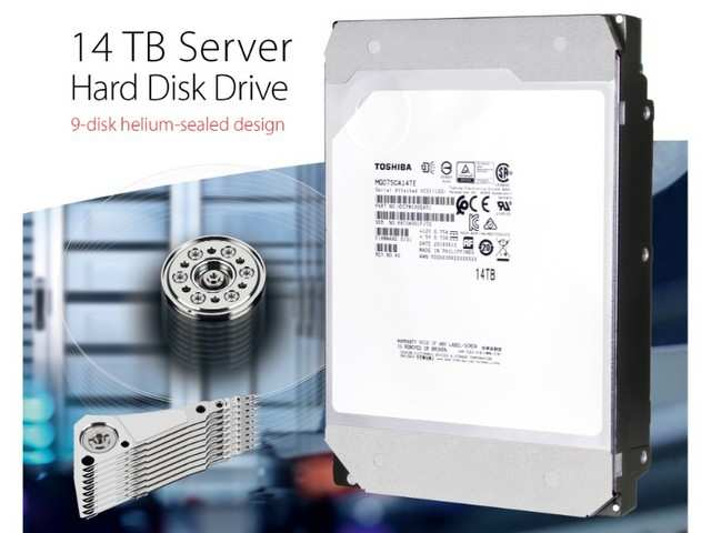 Toshiba announces 14TB and 12TB Helium-sealed SAS HDD models