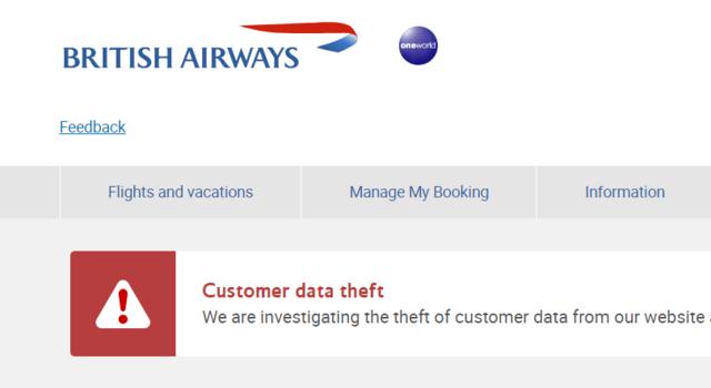British airways website hacked 380000 credit card details leaked british airways website hacked 380000 credit card details leaked reheart Choice Image