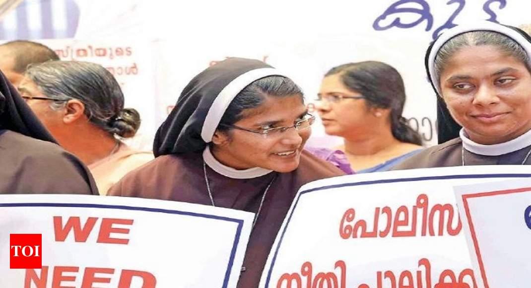 In a first, Catholic nuns protest 'sexploitation' | Kochi News