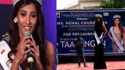 Yamaha Fascino Miss Diva Universe 2018 Nehal Chudasama felicitated in Mumbai