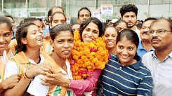 Sudha Singh gets a rousing welcome in Lucknow