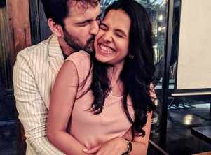 Siddharth Chandekar and Mitali Mayekar seal it with a kiss
