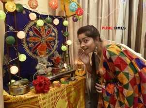 Sonalee hosts a special Bappa this time