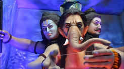 Check out three different looks of Bappa in one idol