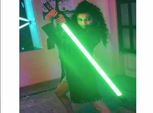 Photo: Mithila Palkar all ready for a combat with a lightsaber