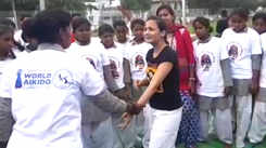Actor Pooja Ruparel teaches Japanese martial art to girls
