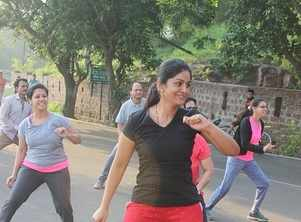 Power packed morning  with lake side Zumba