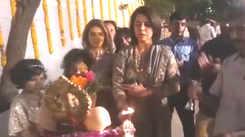 Neetu Singh, Ridhima Kapoor Sahani bid adieu to Lord Ganesha