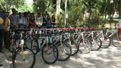 22 cycles were donated by GTU to LD Engineering college