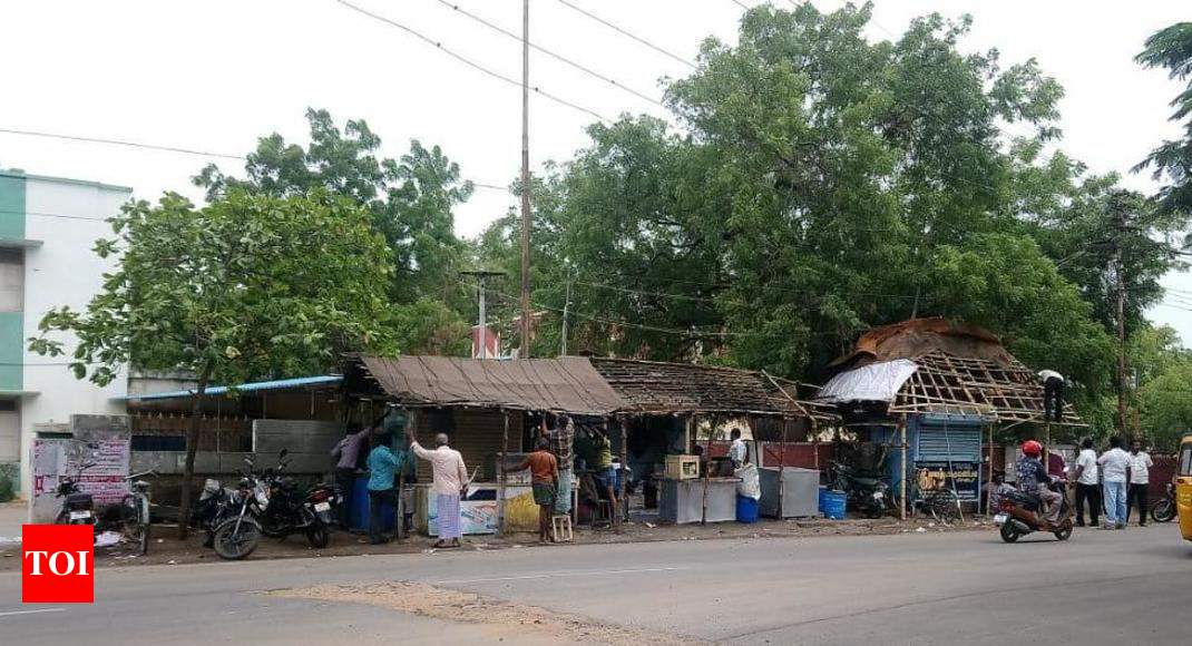 Image result for Encroachments removed from Heber Road in Trichy