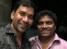 "Nirahua gets a selfie with ""comedy King"" Johnny Lever"