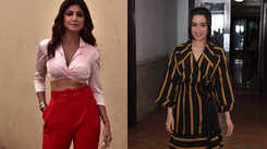 Shilpa Shetty looks stylish in cropped shirt and red pants, Shraddha Kapoor looks cute in collar dress
