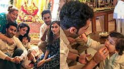 Taimur Ali Khan celebrates Ganesh Chaturthi, video goes viral