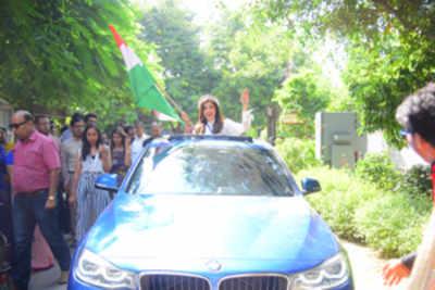 Aditi Hundia comes home to a superstar's welcome