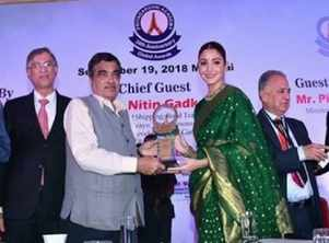 Anushka on receiving the Smita Patil Award