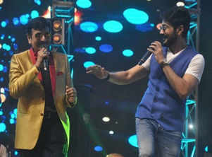 Photo: Prosenjit shares the stage with father Biswajit Chatterjee