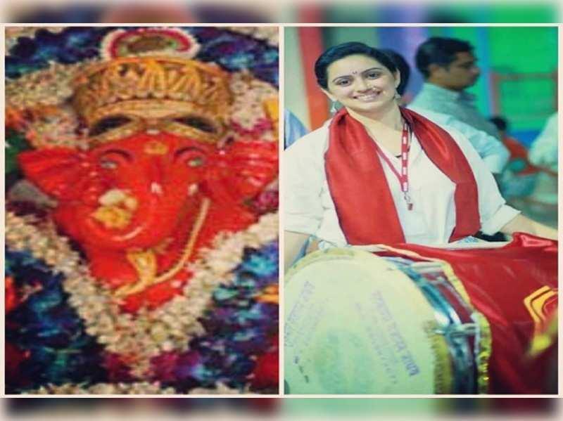 Marathi Kalwant dhol Pathak plays at Siddhivinayak Mandir