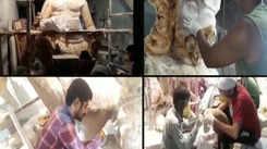 Making of paper Ganesha in Surat