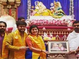 Ganpati Darshan for Savaniee Ravindrra
