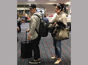 Priyanka Chopra and Nick Jonas spotted at the airport as they return from their trip
