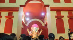 Hill Top's creative Bappa idol is catching the attention of the revellers