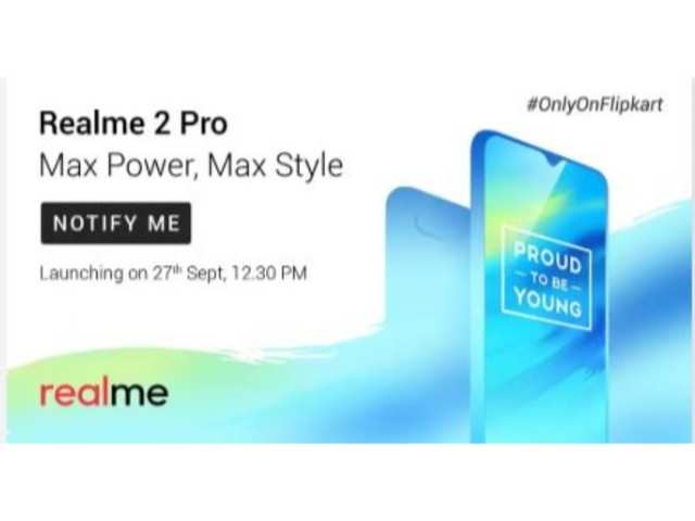 Realme 2 Pro Realme 2 Pro Will Be Available Exclusively On Flipkart