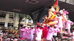 Ganesh Visarjan: Lalbaugcha Raja comes out of the mandal