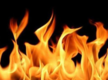 2 suffer burns in blaze at chemical factory