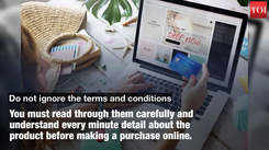 Things to check before buying furniture online