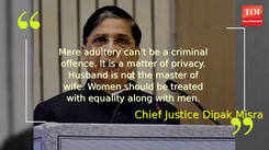Women can't be treated as cattle: SC strikes down adultery law