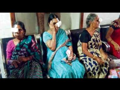 18 lose vision after botched cataract operation   Hyderabad