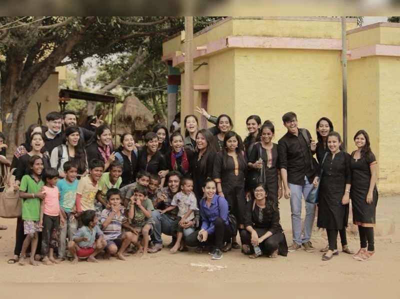 CMS Jain College students perform Kannada plays in Solur