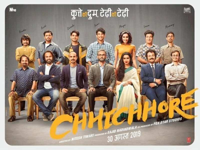 Chhichhore' poster: Sushant Singh Rajput and Shraddha Kapoor's first look from the movie will leave you dumbstruck | Hindi Movie News - Times of India